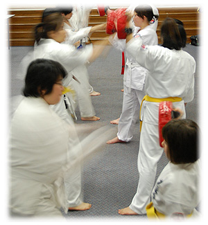 Women training